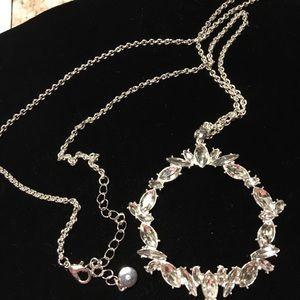C1946 long silver chain